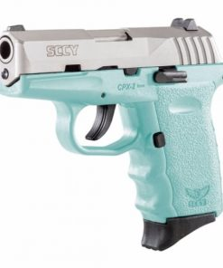 SCCY CPX-2 Teal & Stainless Slide Pistol