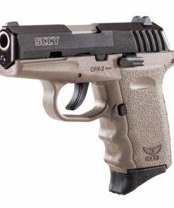 SCCY CPX-2 FDE & Black slide 9mm pistol