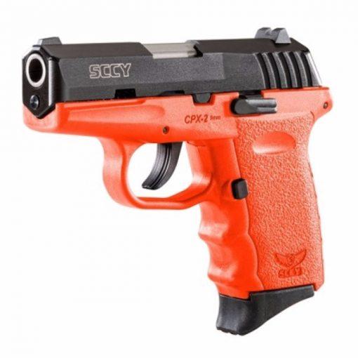 SCCY CPX-2 Orange & Black Slide 9mm Pistol