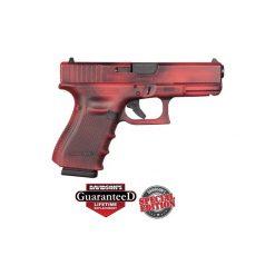 Glock 19 Gen4 Red Battleworn Pistol