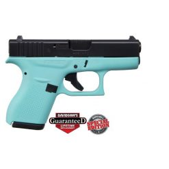 GLOCK 42 Robins Egg Blue w. Black Slide .380 ACP Pistol