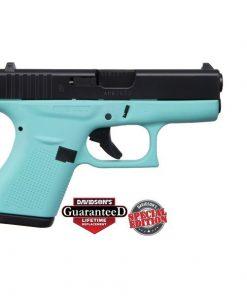 GLOCK 42 Robins Egg Blue w. Black Slide .380 ACP Pistol