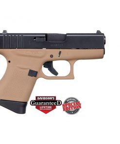 GLOCK 43 FLAT DARK EARTH W/ BLACK SLIDE USA 9MM PST CKDDEEB
