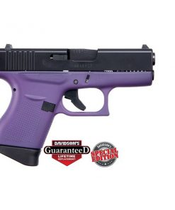 GLOCK 43 PURPLE W/ BLACK SLIDE USA 9MM PST CKPREB
