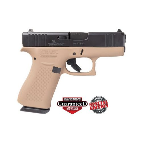 Glock 43X FDE Frame Black Slide 9MM Pistol