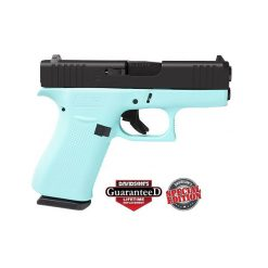 GLOCK 43X ROBINS EGG BLUE BLACK SLIDE 9MM 10RD PISTOL