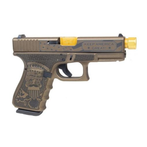 Glock 19 TRUMP Gen4 Compact 9mm Brunt Bronze Pistol