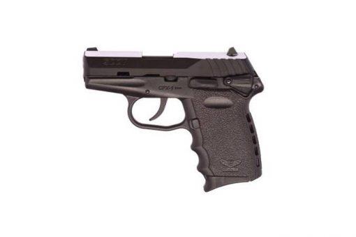 """SCCY CPX-1 Black Frame & Black Slide 9mm 3.1"""" Barrel 10 Rounds Pistol"""