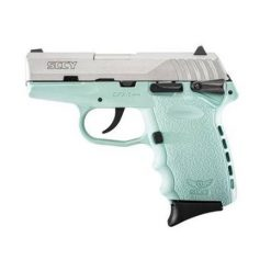 "SCCY CPX-1 Robins Egg Blue Frame & Stainless Slide 9mm 3.1"" Barrel 10 Rounds Pistol"