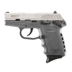 "SCCY CPX-1 Grey Frame & Stainless Slide 9mm 3.1"" Barrel 10 Rounds Pistol"