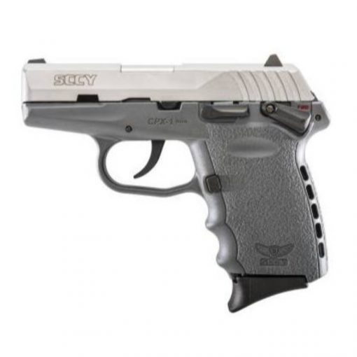 """SCCY CPX-1 Grey Frame & Stainless Slide 9mm 3.1"""" Barrel 10 Rounds Pistol"""