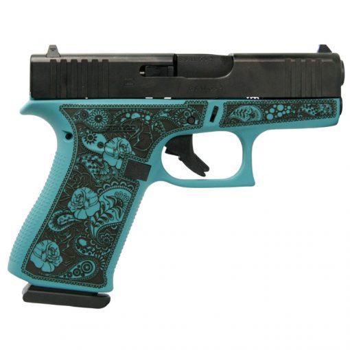 Glock 43X Tiffany & Paisley Custom Engraved USA 9mm Pistol