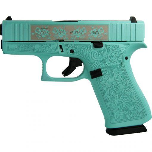 Glock 43X Glocks & Roses Custom Engraved USA 9mm Pistol
